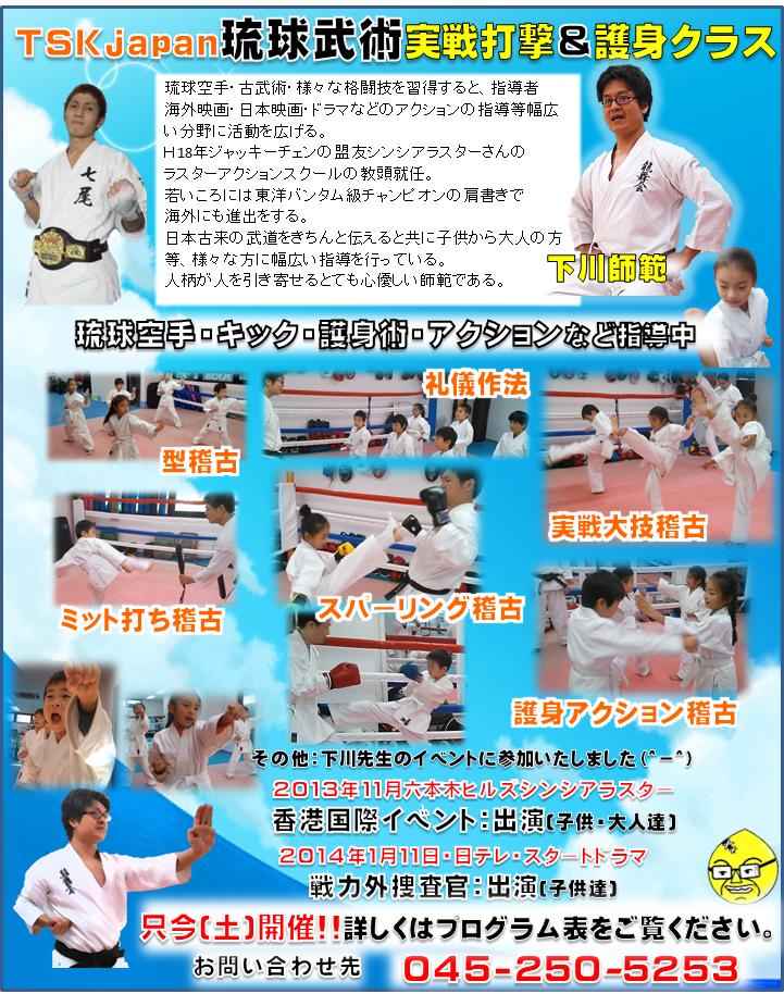 横浜キックボクシングジム TSKjapan 琉球空手 古武術クラス紹介写真